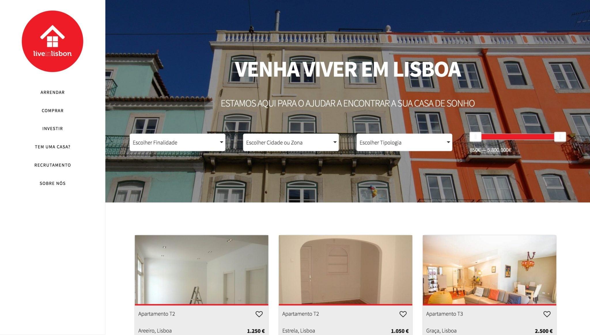 Live in Lisbon website